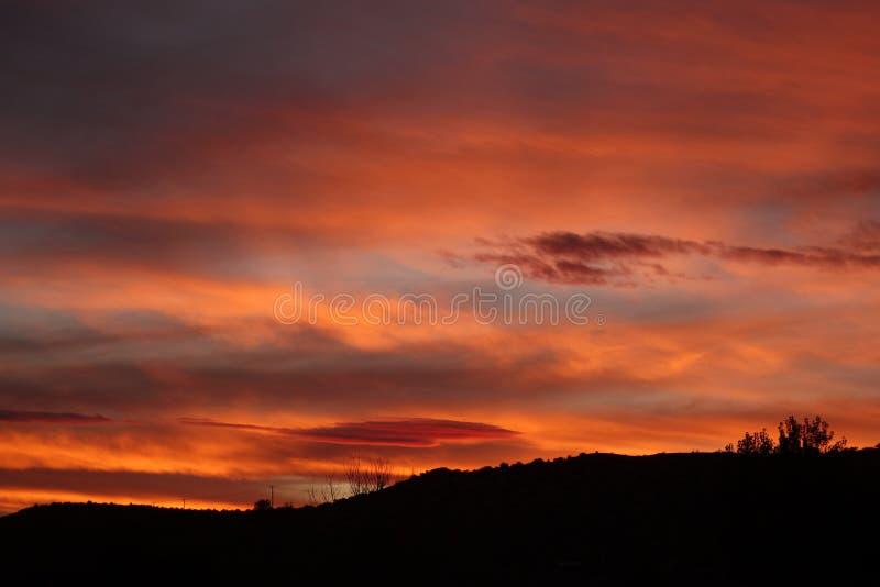 Bright sunrise sky royalty free stock photos