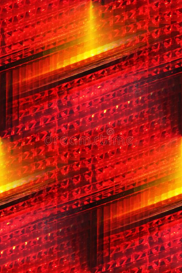 Bright Tail Light Abstract Stock Image