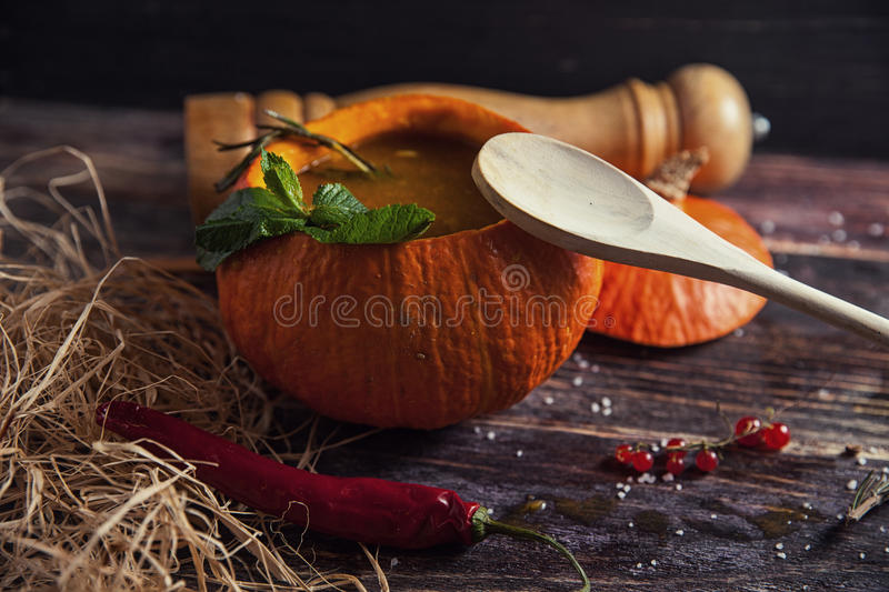 Bright tasty soup royalty free stock images