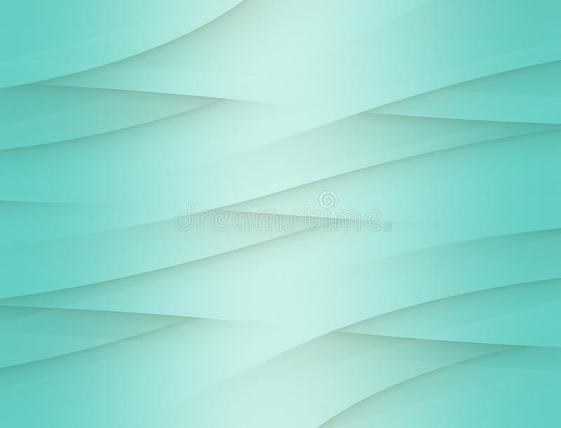 Bright teal blue curving weave abstract paper background illustration vector illustration