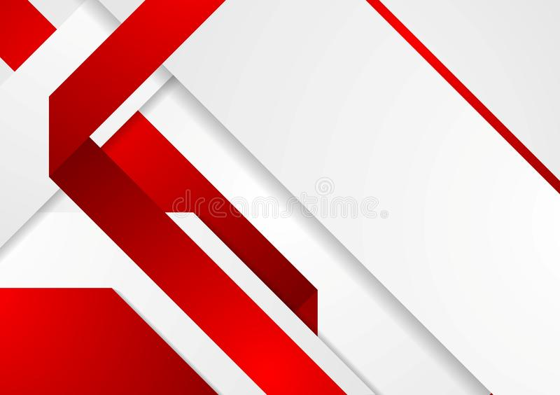 Bright Tech Corporate Red And White Background Stock ...