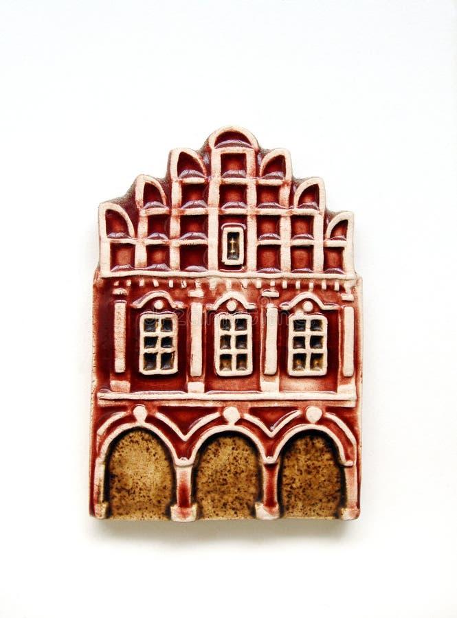 Bright townhouse model refrigerator magnet