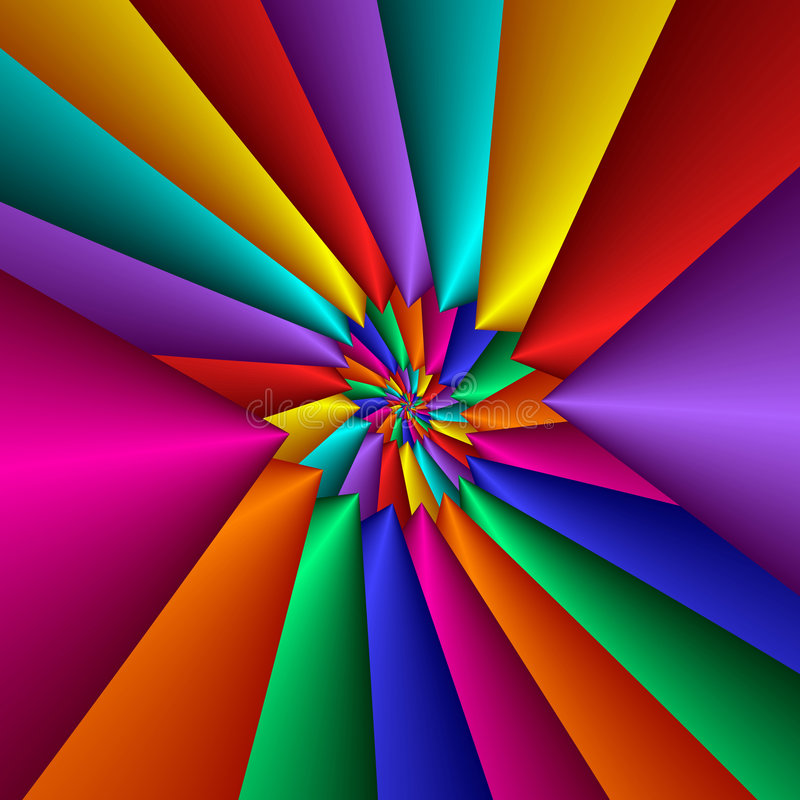 Bright Triangulated Pinwheel Fractal royalty free stock images