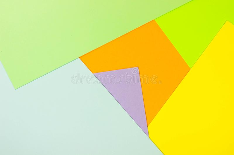 Bright unique colorful background consisting of different saturated colors. Palette of colors. Multicolor background from a paper. Of different colors stock photo