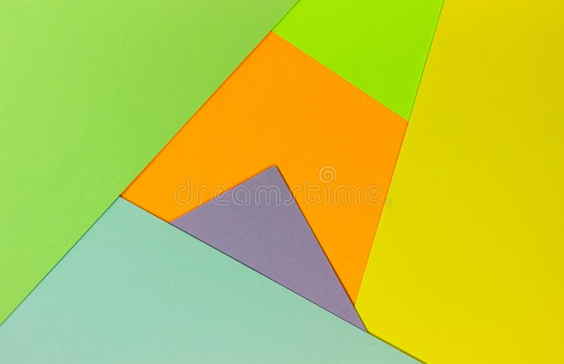 Bright unique colorful background consisting of different saturated colors. Palette of colors. Multicolor background from a paper royalty free stock photography