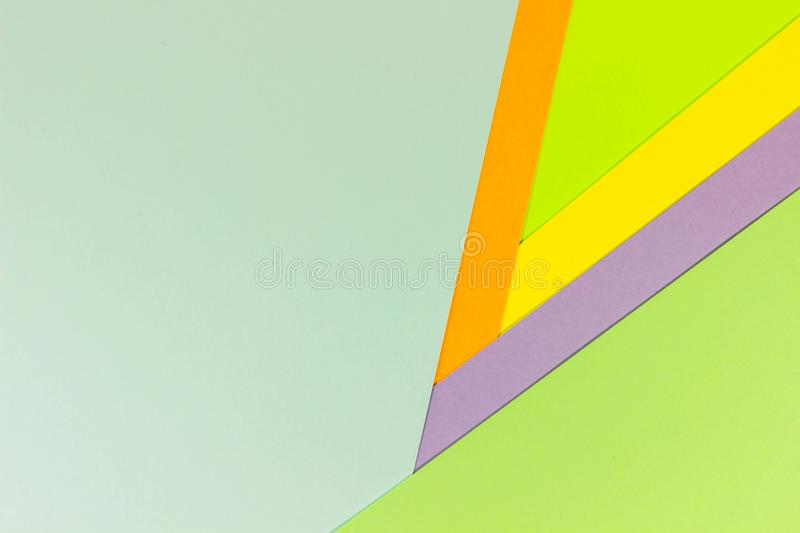 Bright unique colorful background consisting of different saturated colors. Palette of colors. Multicolor background from a paper stock images