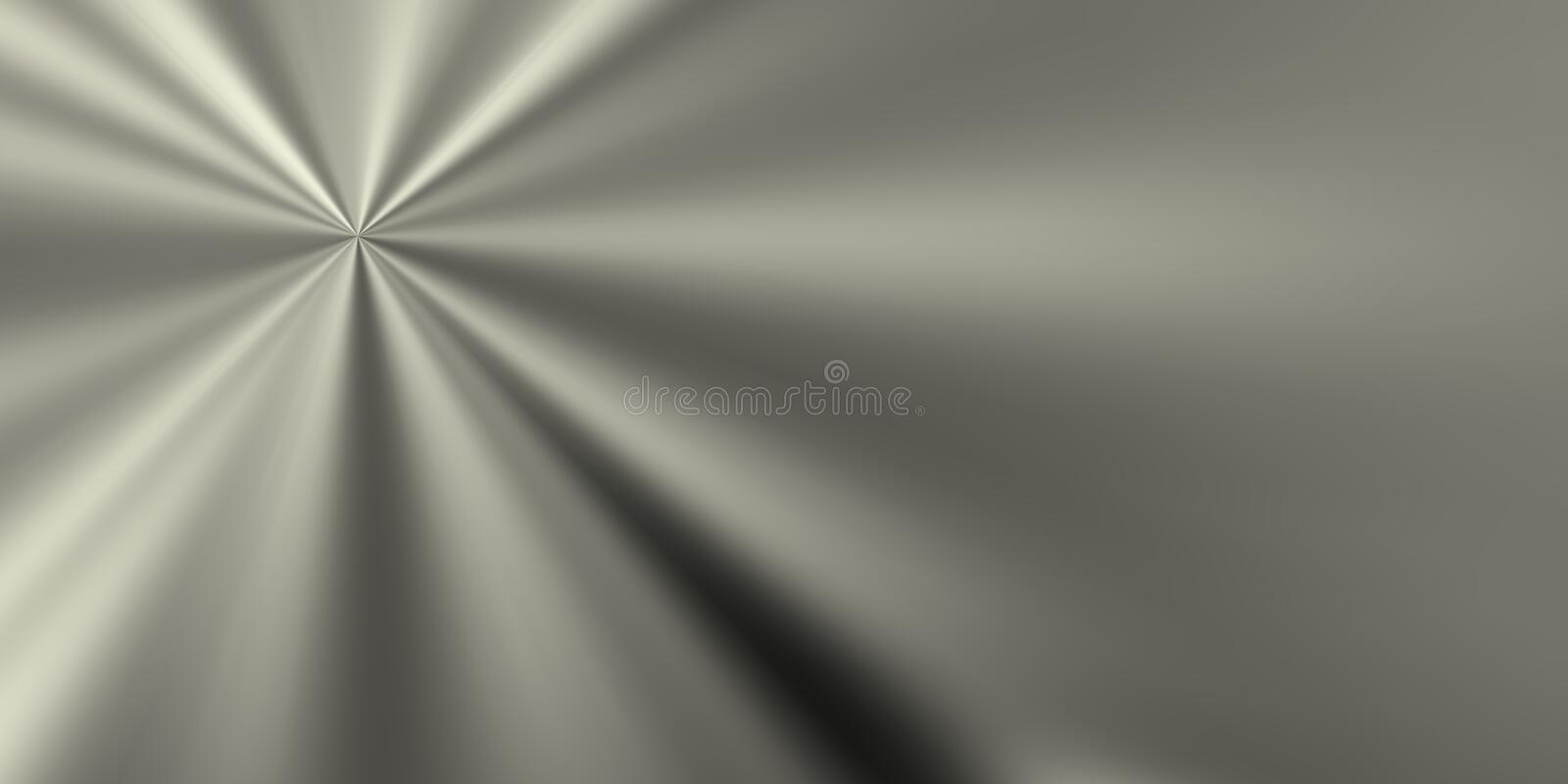 Bright vanishing point on metallic horizon stock illustration