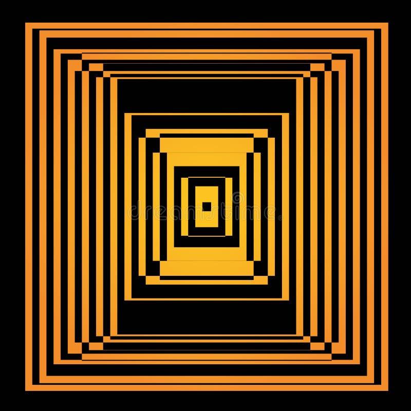 Bright vector optical illusion. Op art element stock illustration