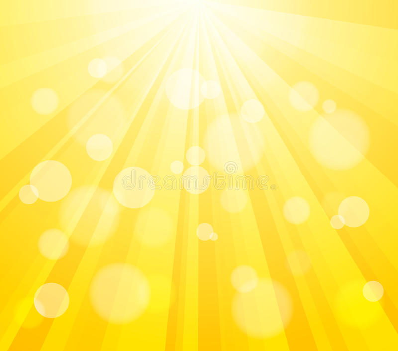 Bright Vector Sun And Paint Splashes Effect Stock Photo