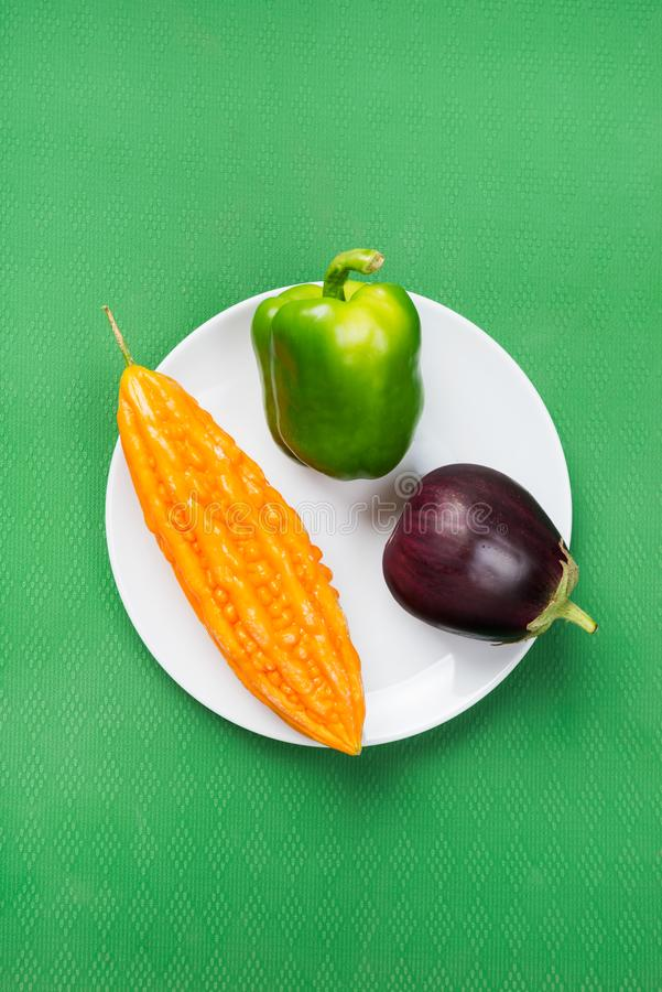 Bright vegetables stock photo