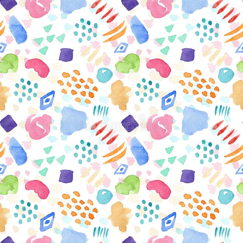 Bright watercolor pattern with color stains vector illustration