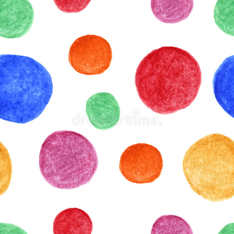 Bright watercolor spots seamless pattern stock images