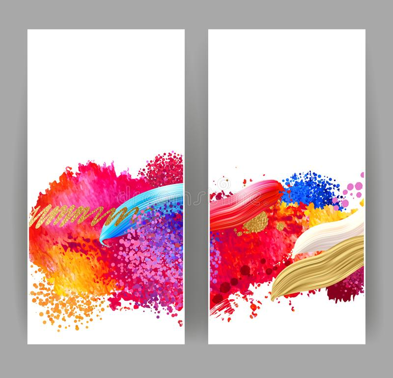 Bright watercolor stains. Bright blobs and stains. Watercolor abstract background for creative design vector illustration