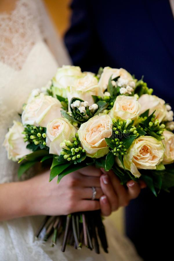 Bright wedding bouquet royalty free stock image