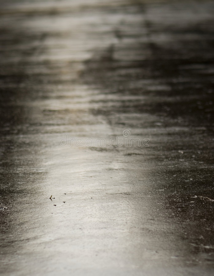 Free Bright, Wet Asphalt Stock Image - 4838761