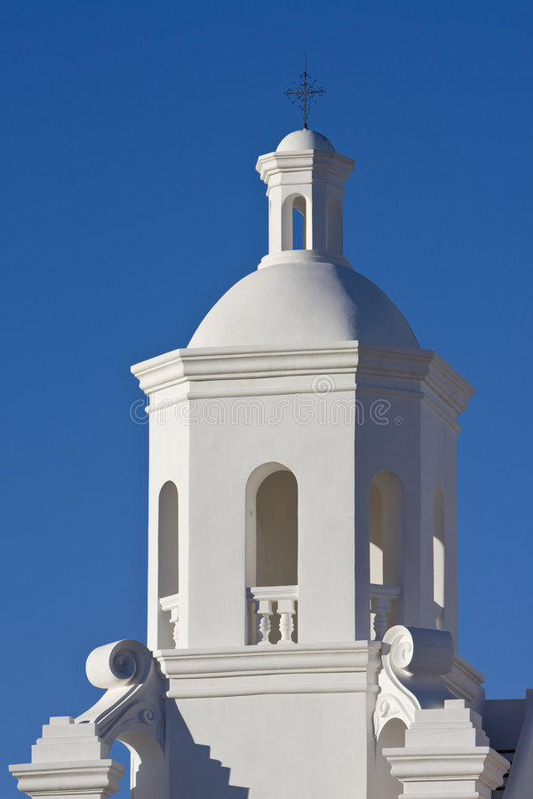 Bright White Bell Tower royalty free stock photo