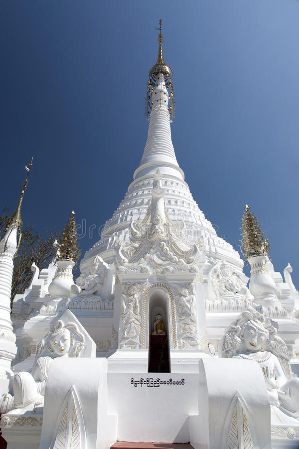 Download White Buddhist Temple stock image. Image of asia, blue - 30017555