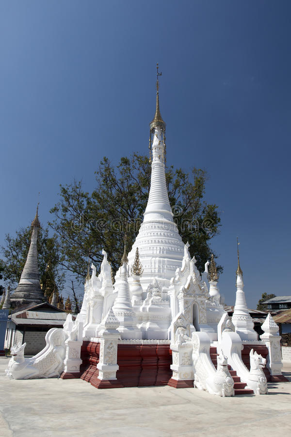 White Buddhist Temple Stock Image