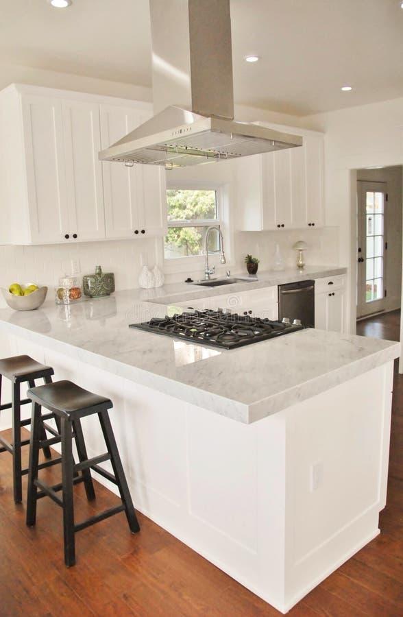 Bright White Kitchen stock photo