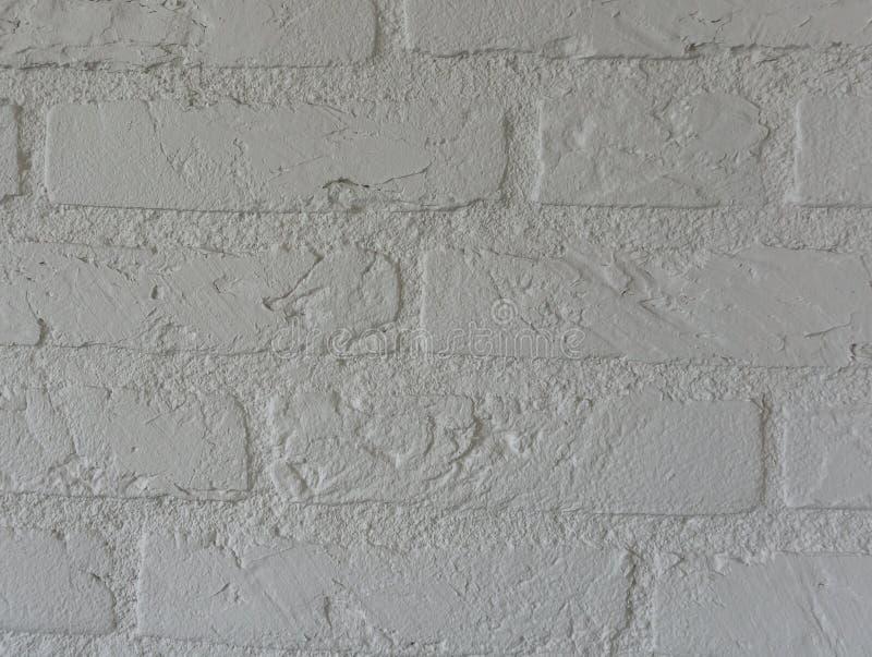 Bright white stone brick wall background with modern bricks pattern royalty free stock photos