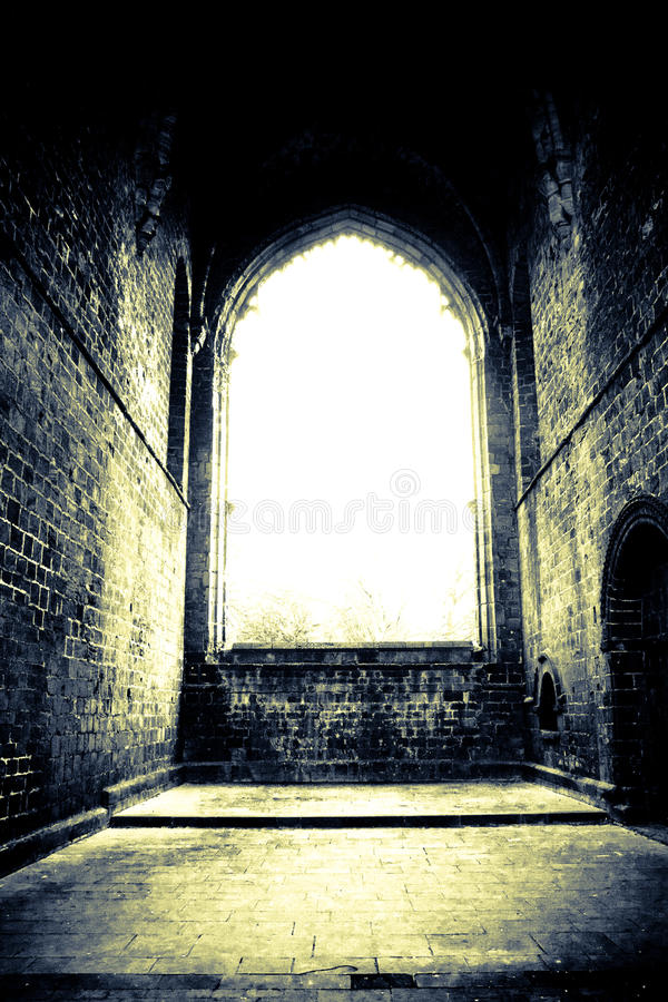 Free Bright Window In Old Catherdral Stock Image - 13714171