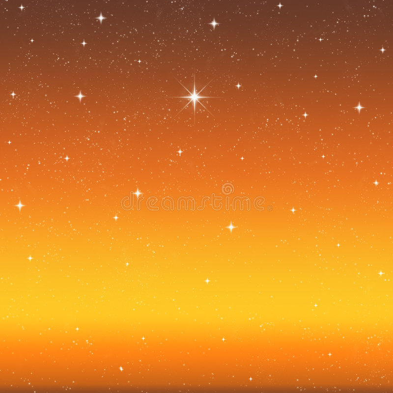 Bright wishing star night sky stock photo