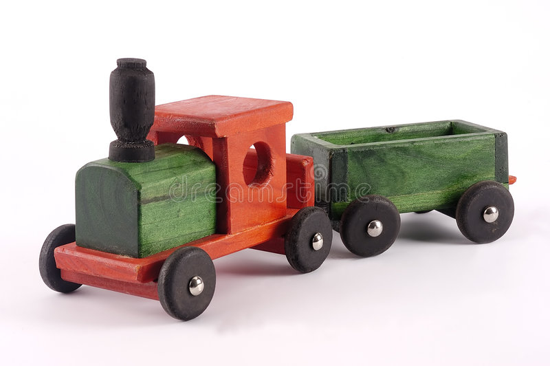 Download A bright wooden toy train stock image. Image of preschool - 6037399
