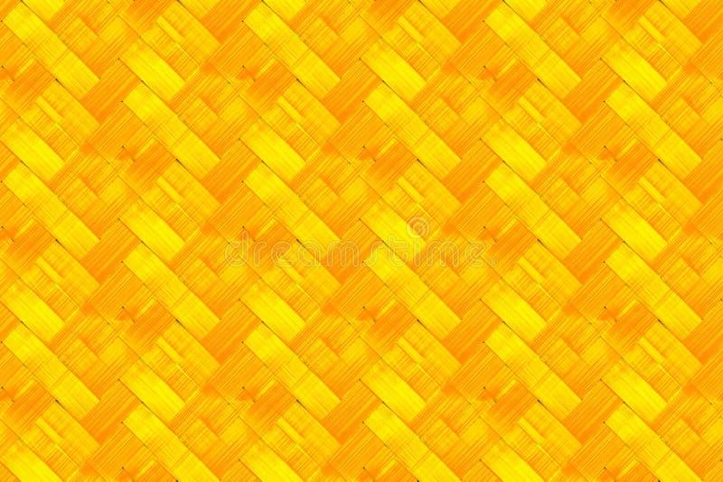 Bright Woven Bamboo Background Stock Photos