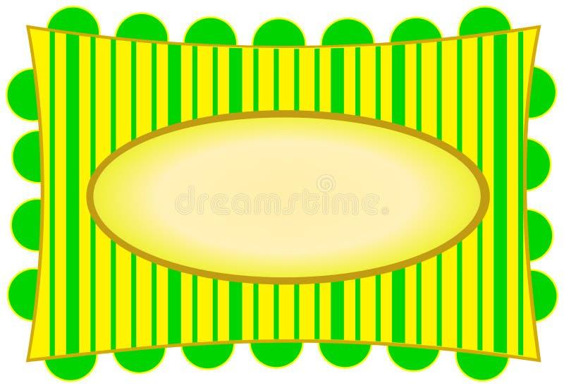 Bright Yellow & Citron Stripes. Illustration of a bright yellow and citron green, with stripes, on a white background royalty free illustration
