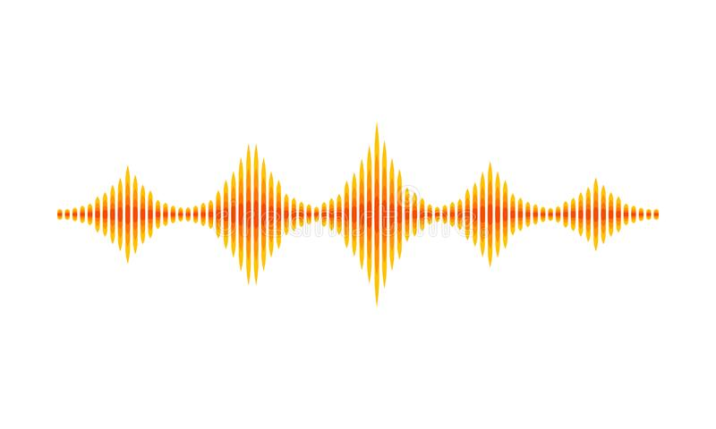 Abstract Music Sound Theme Background Stock Illustration