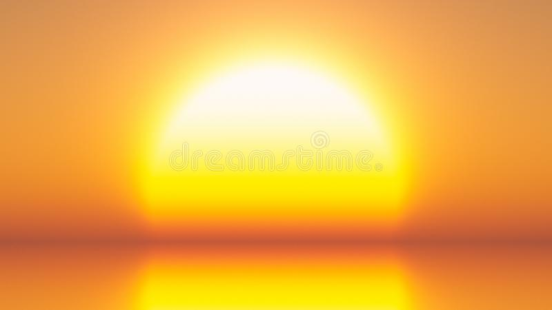 Bright Yellow Sun royalty free stock images