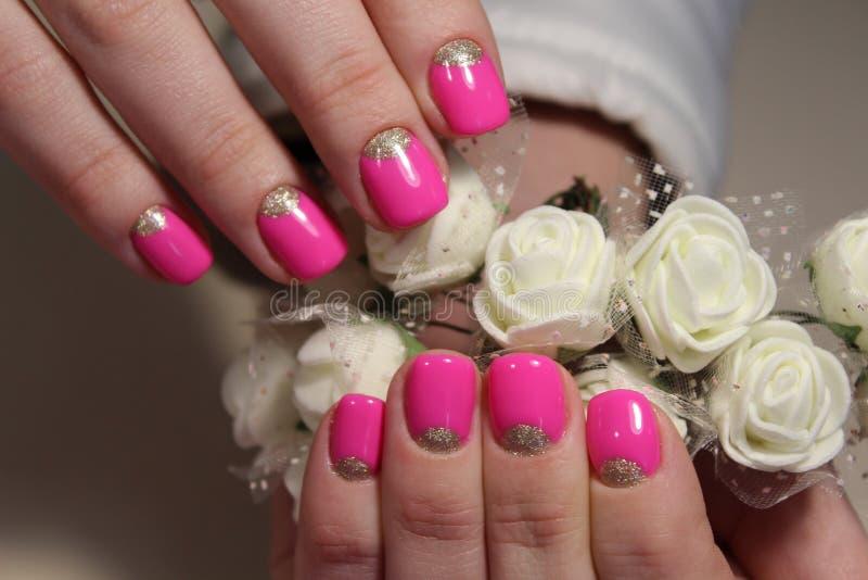 Bright, youthful manicure design royalty free stock photo