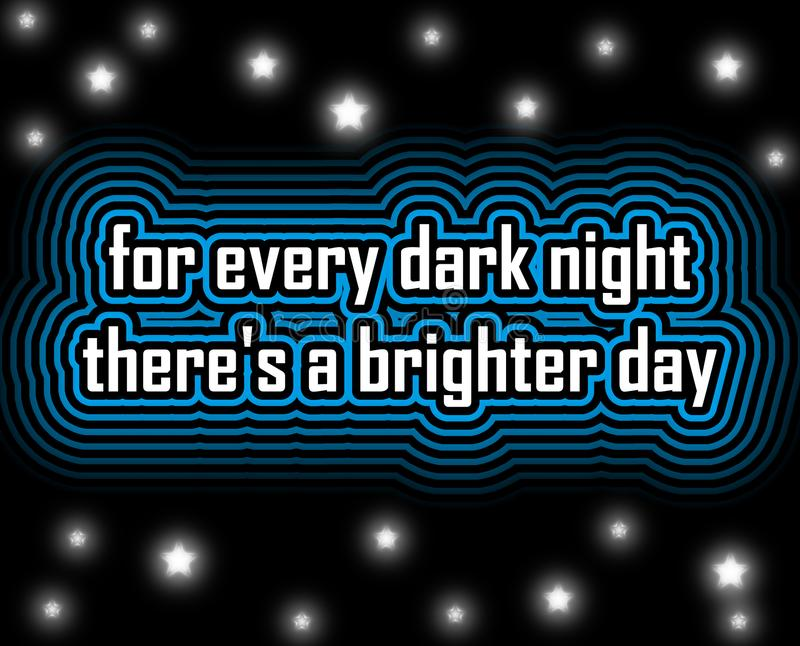 Brighter day hope quote stock image