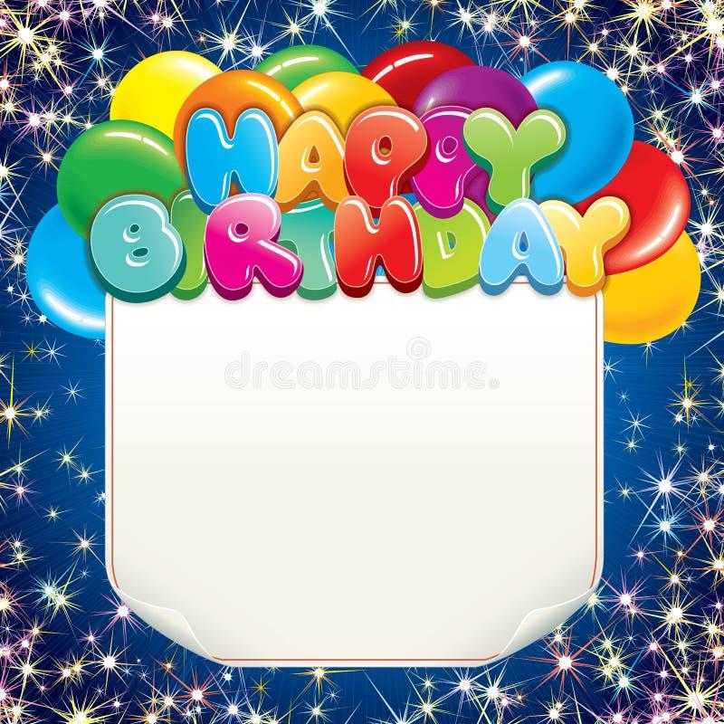 Brightly Birthday Background vector illustration