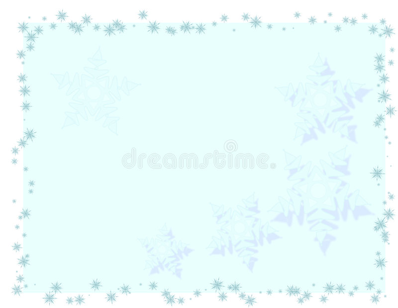 Brightly Blue Christmas Card Stock Photography