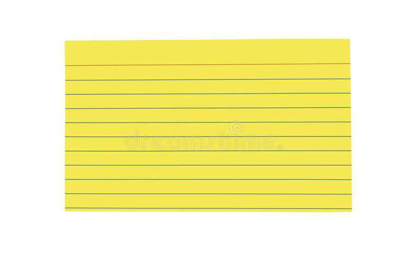 Brightly Colored Blank Index Card Stock Photo - Image of ...