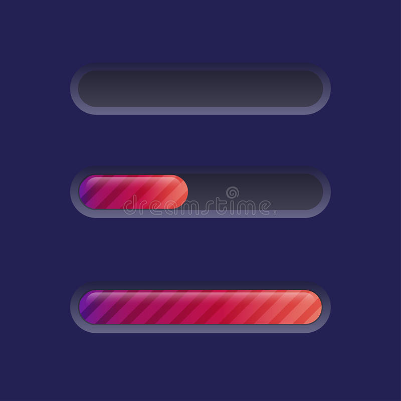 Brightly Colored Progress Bar Stock Images