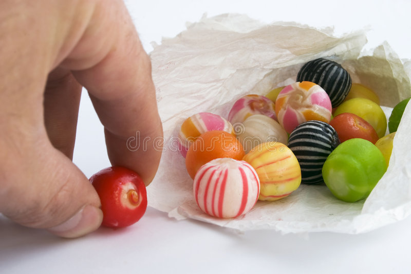 Brightly colored sweets stock images