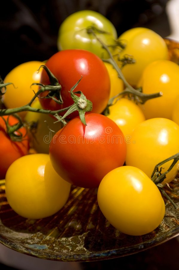 Download Brightly colored tomatoes stock image. Image of nutrition - 7593007