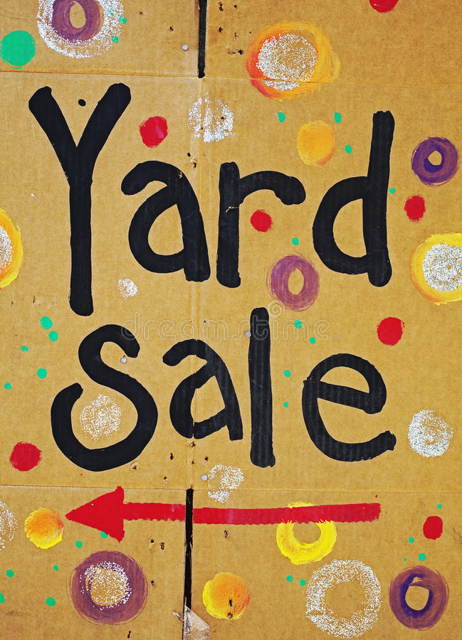 Download Brightly Colored Yard Sale Sign Stock Photo - Image: 14797150