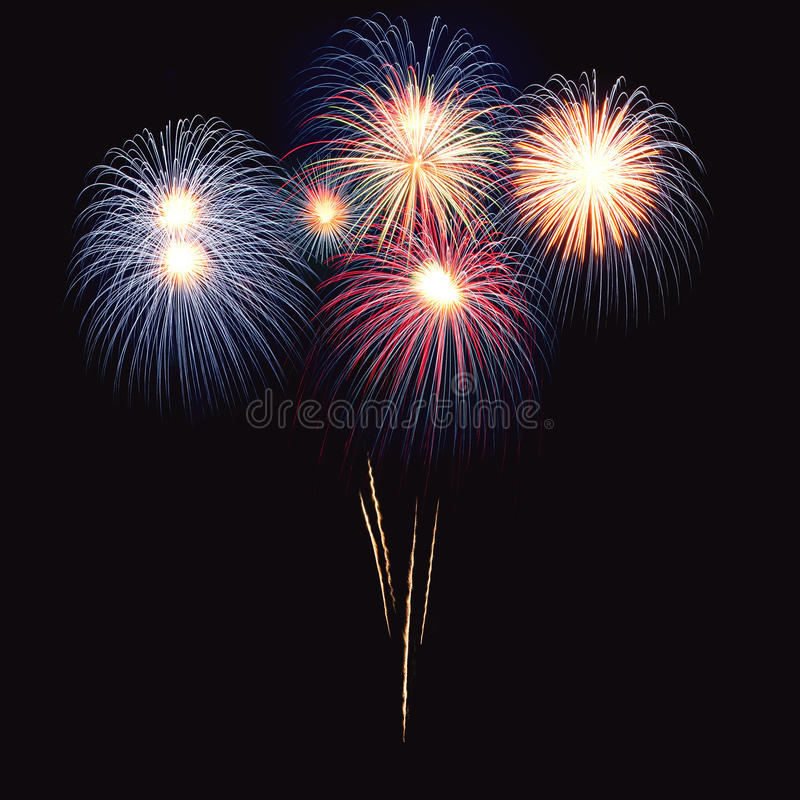 Free Brightly Colorful Fireworks In The Night Sky Stock Photo - 19986130