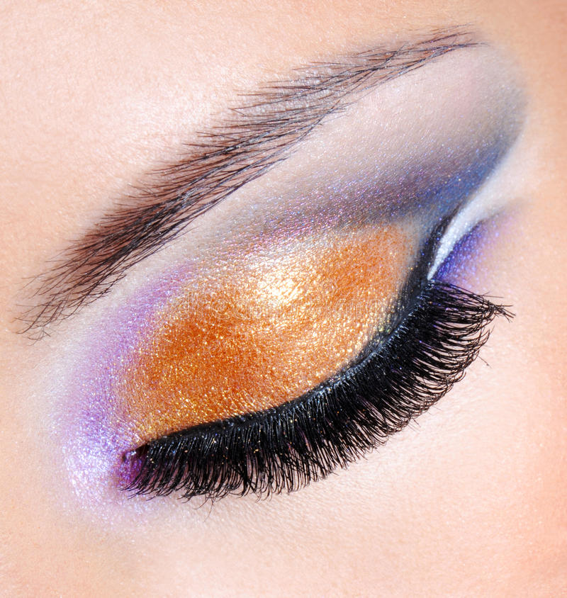 Free Brightly Colors Of A Fashion Makeup Stock Image - 16144811