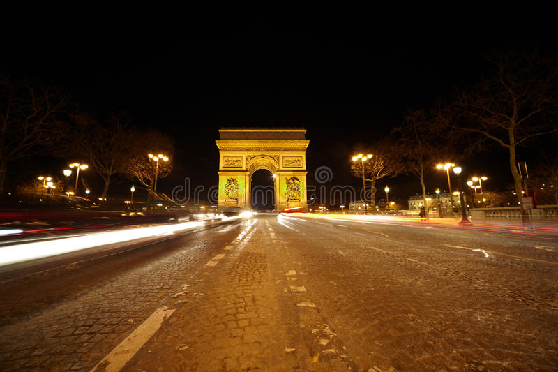 Download Brightly Illuminated Triumphal Arch Stock Image - Image: 20004907