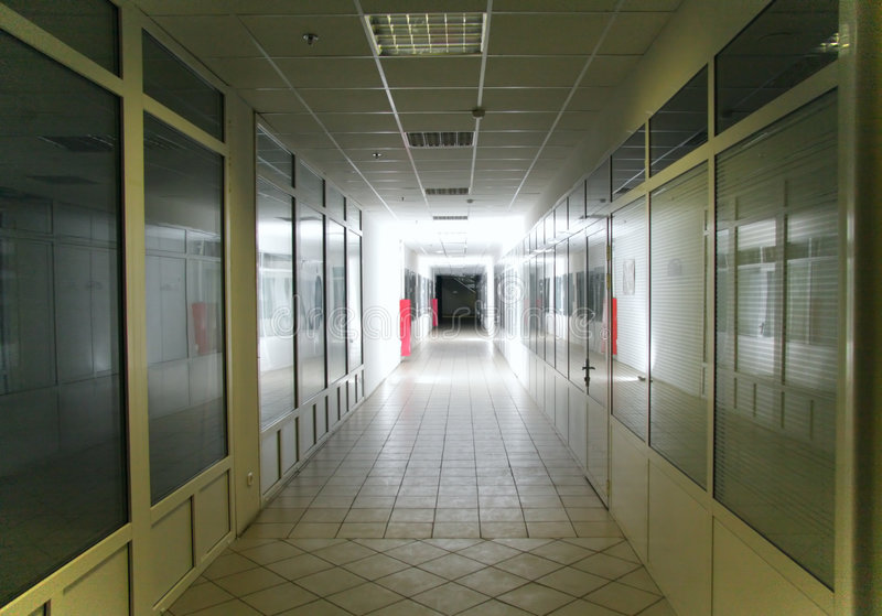 Brightly Lit Corridor Stock Photography
