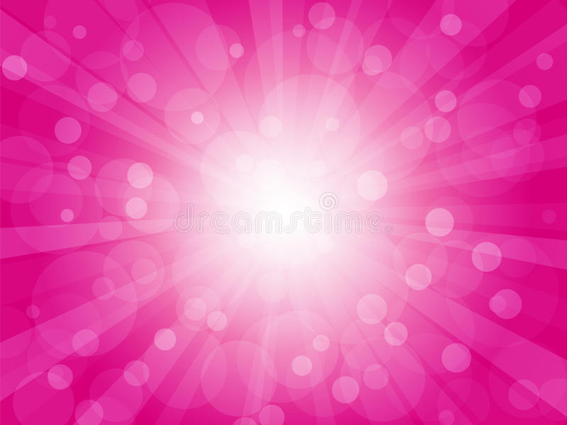 Brightly pink background with rays vector illustration