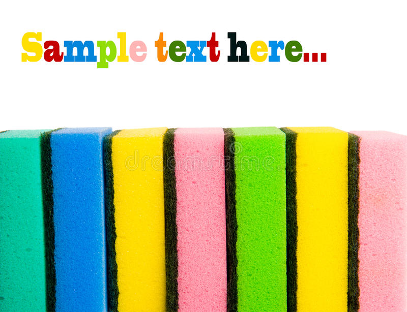 Brightly Sponges Stock Images