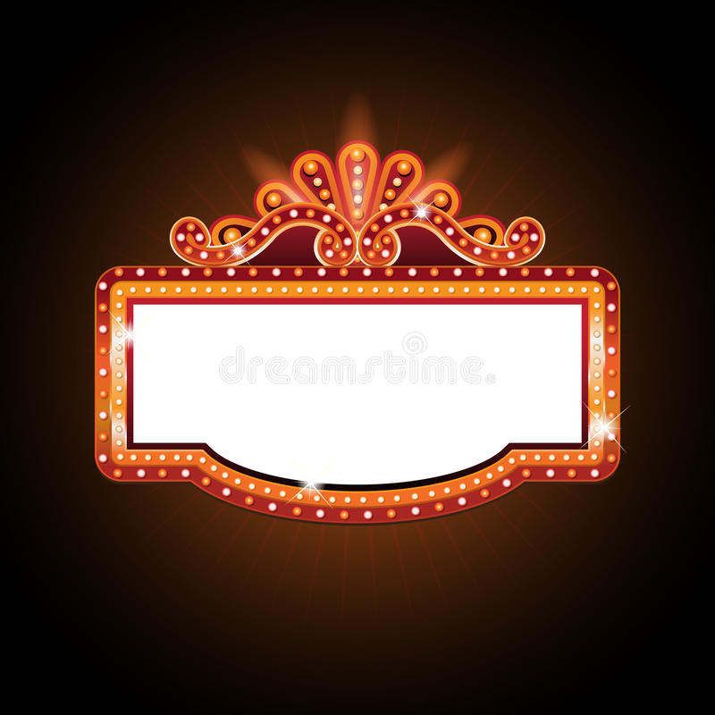 Free Brightly Theater Glowing Retro Cinema Neon Sign Royalty Free Stock Images - 89403749