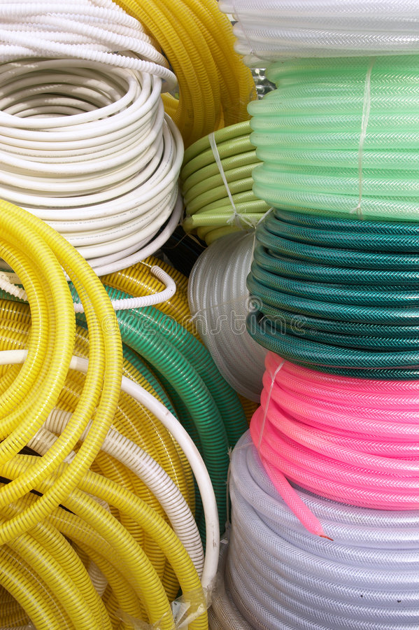 Download Brightness Of Watering Hoses On Sale Stock Image - Image: 5325489