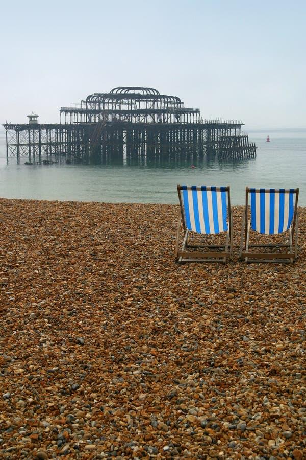 Brighton Beach royalty free stock photography