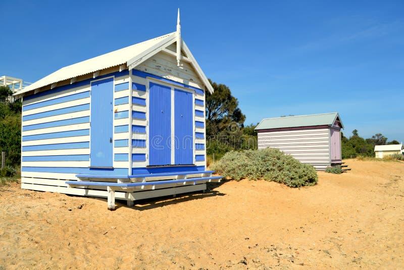 Brighton Beach Bathing Box fotografie stock